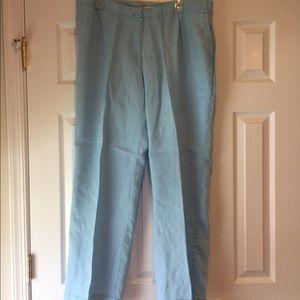 Liz Claiborne light blue linen pants